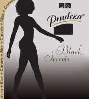 Pendeza Pantyhose sheer tights xxl/q black secrets