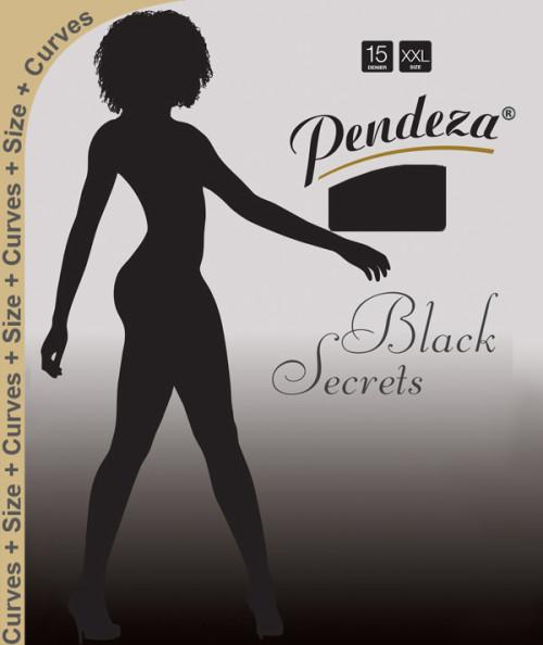 Pendeza Pantyhose sheer tights xxl/q black secrets